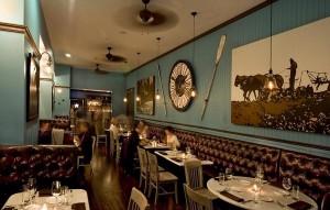 Restaurant with wild west Americana theme