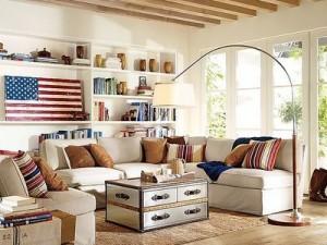 Americana interior design-living room
