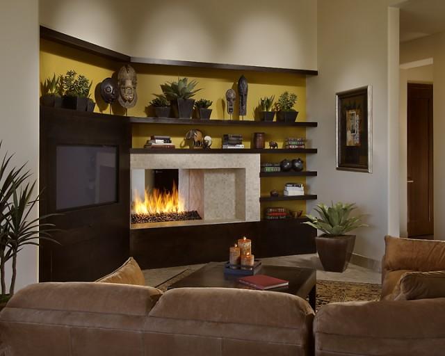 Asian Inspired Living Room