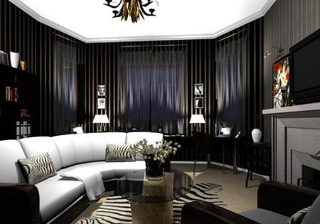 Gothic Inspired Living Room  Using Black