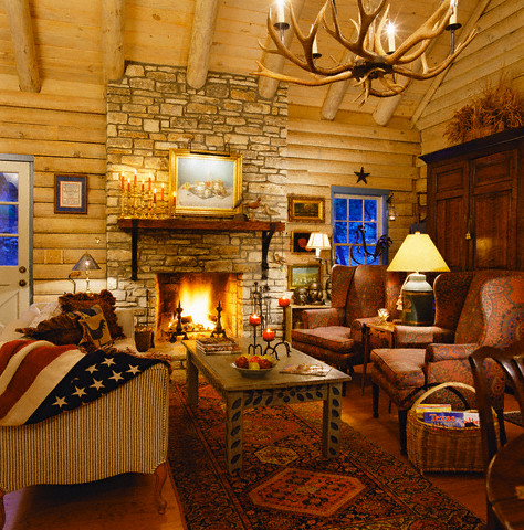 Nice Log Cabin Interior Design Ideas