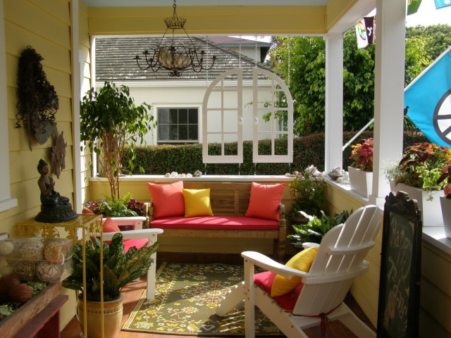 Porch Designs Ideas 15 charming porches hgtv Elegant Front Porch With Columns And No Railing Decorating Ideas