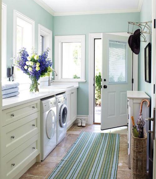 Contemporary Designed Mud and Laundry Room