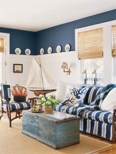 DIY Nautical Look Interior Design For Living Room