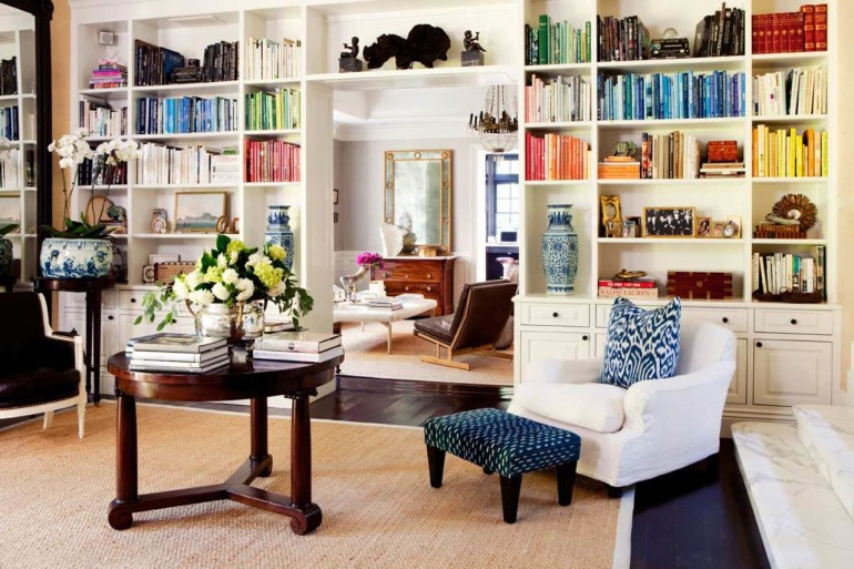 Go Bold with Bookcases in your Living Room Interior Design