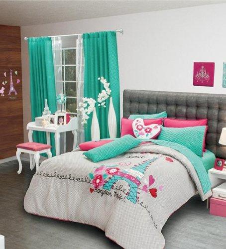 Paris themed bedding for Imagenes de habitaciones decoradas