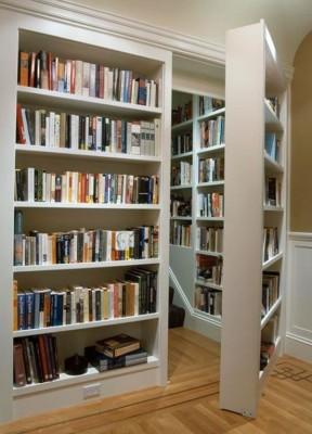 A secret door (bookshelf) to your home library