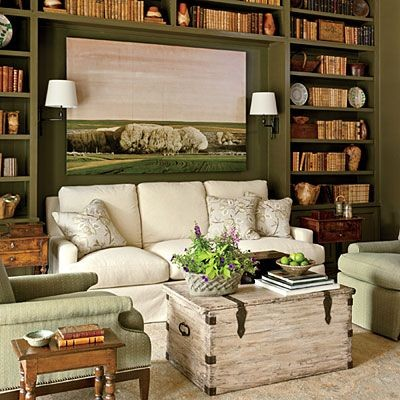 Add a mini home library in your sitting room