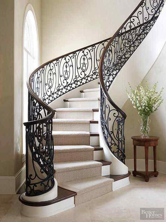 a curvaceous railing idea