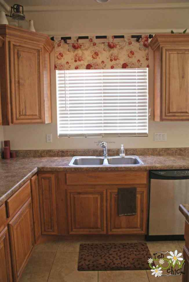 small and colorful kitchen curtain