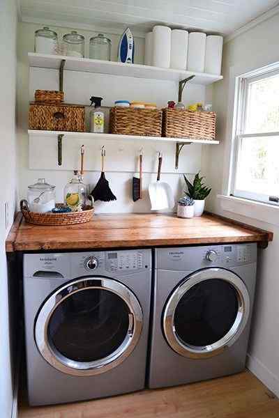 laundry room shelving ideapromotes neatness and cleanliness