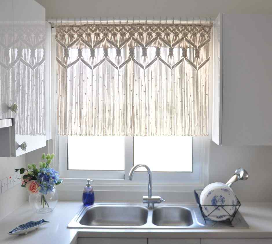 A Delicate Kitchen Curtain