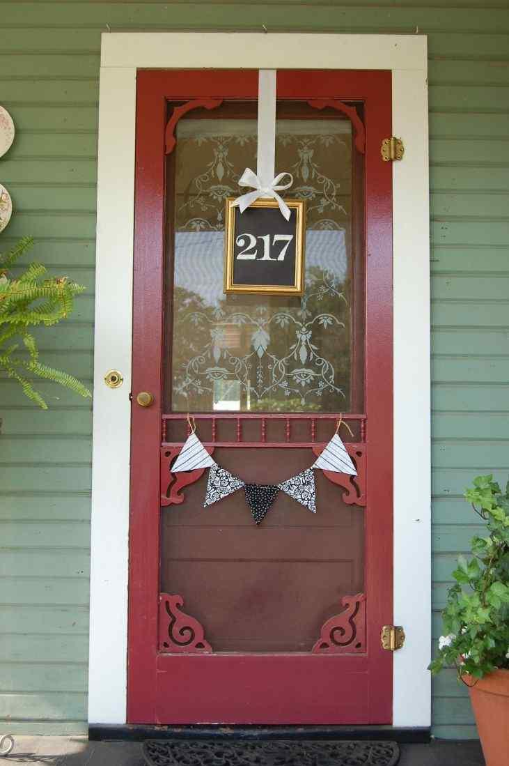 Number Wall Hanging door idea