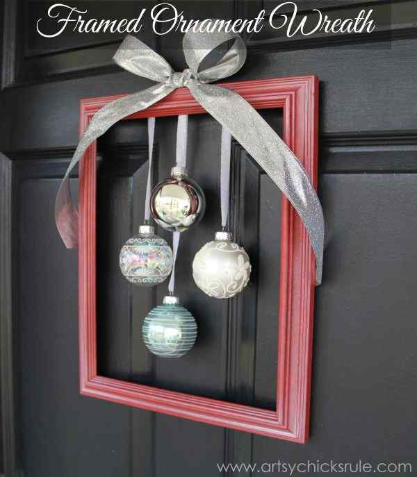 Framed Ornament Wreath
