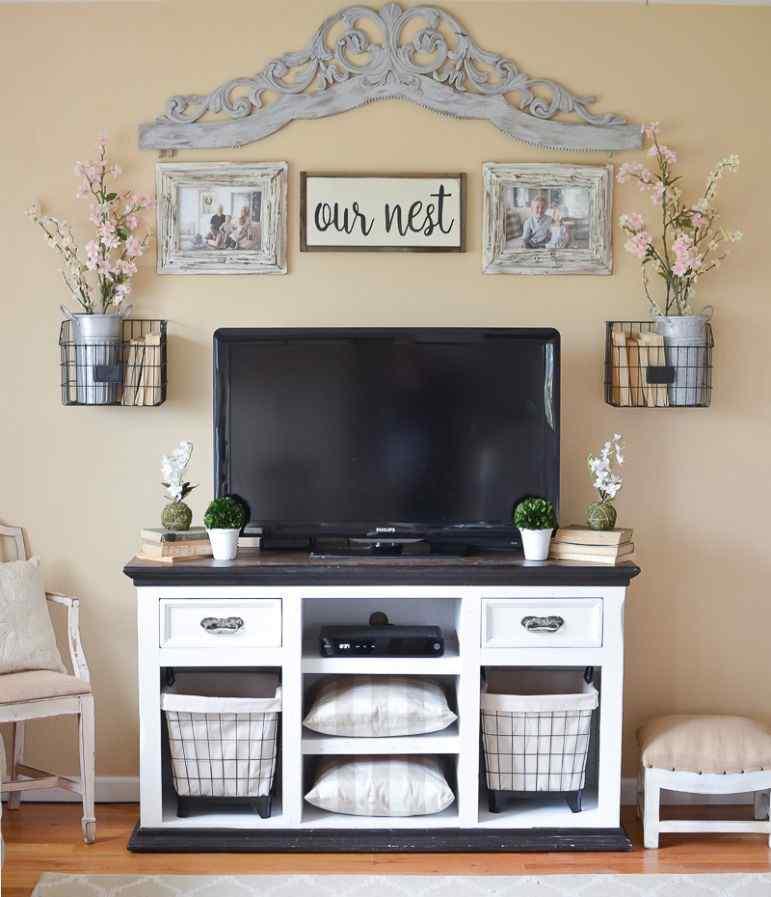 Rustic home entertainment center ideas