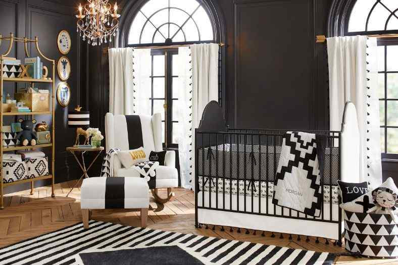 Black and White theme for baby nurseries