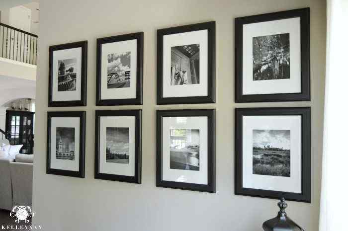 Black and White Gallery Wall Layout