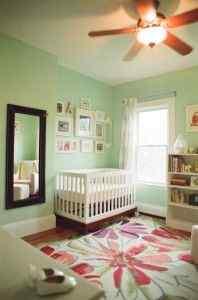 Mint Green baby girl nursery idea
