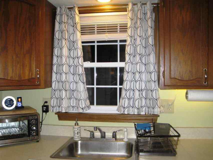 Black And White Patterned Kitchen Curtain