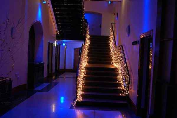 Light it Up stair railing idea