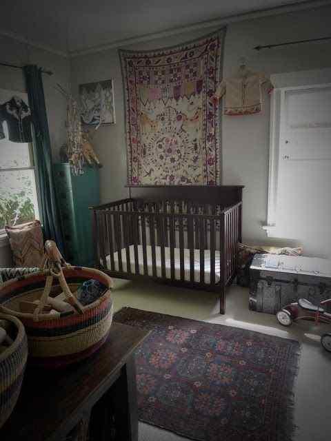bohemian nursery for the little guest