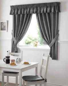 Small Patterned Grey Curtains