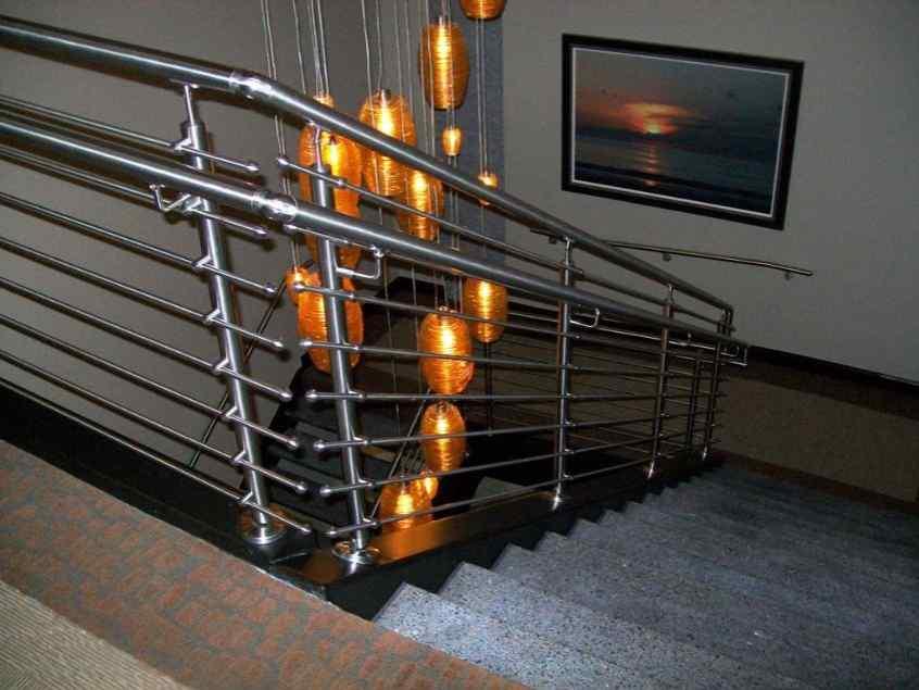 ultra-modern stair railing idea