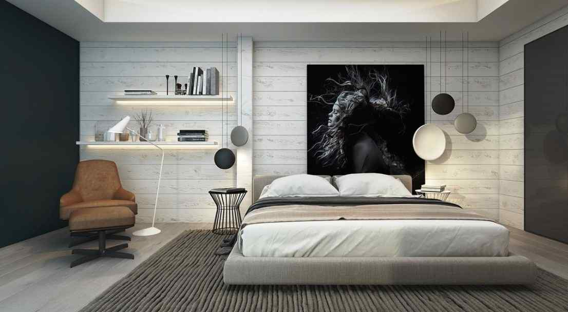 using arts to display around the bedroom