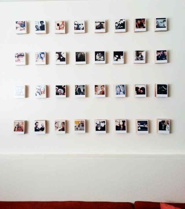 a grid of memories for picture hanging ideas