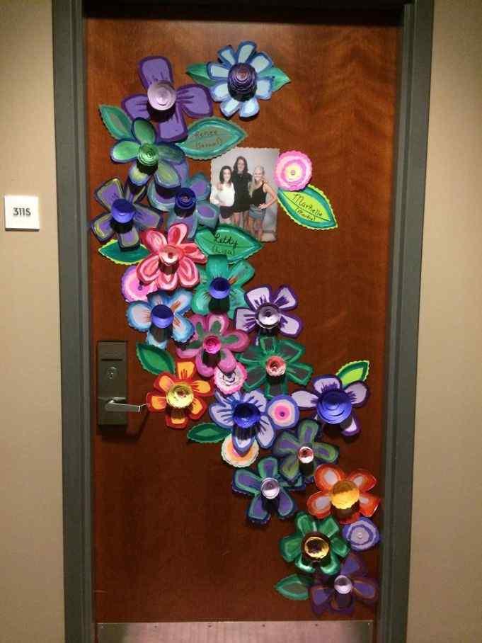 Floral Door Décor