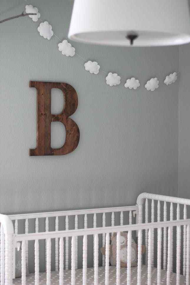 a dreamy clouds theme for the baby boy