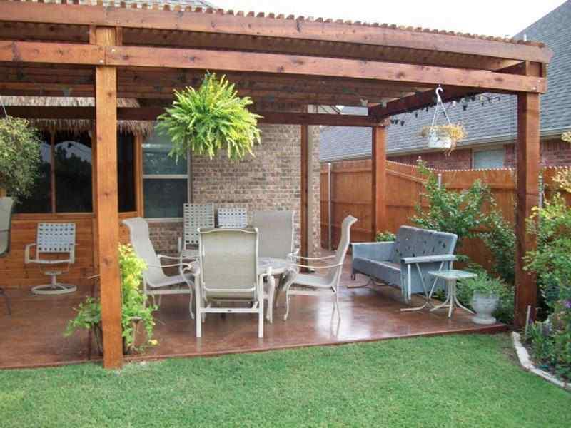 Simple backyard design