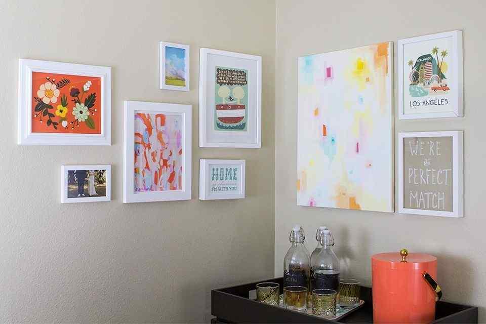 Corner Gallery Wall