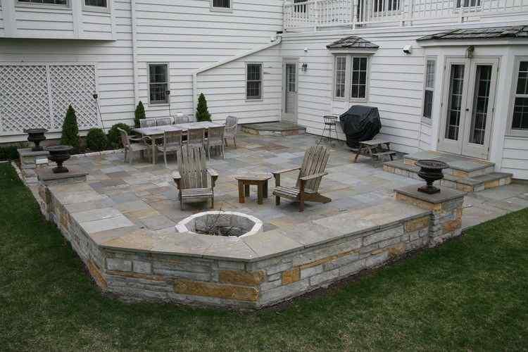 Elevated stone Patio idea