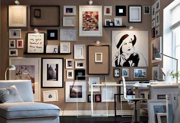 Artistic Gallery Wall Idea