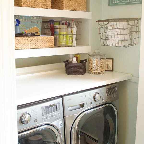 a laundry room is to make use of every available space