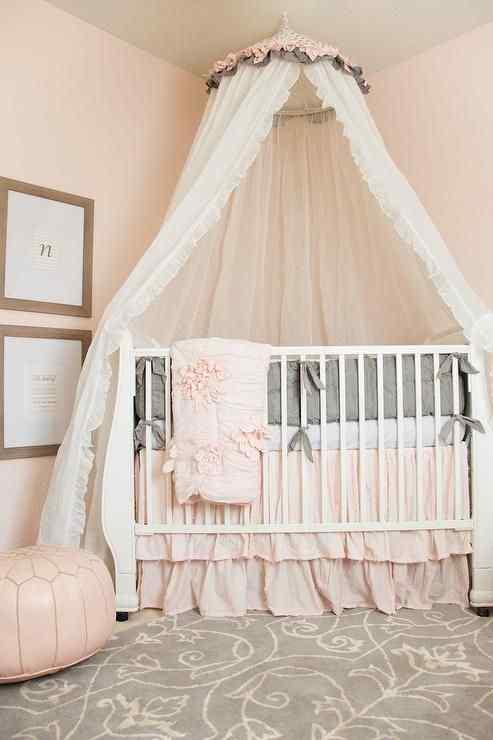 Canopy Princess baby girl nursery idea