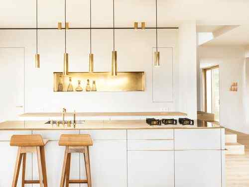 Rose gold kitchen