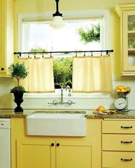 Low Hanging Kitchen Curtains
