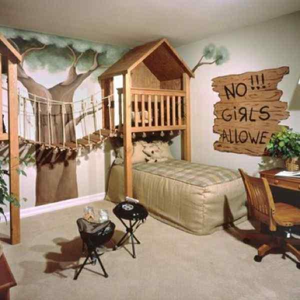 treehouse themed boy's bedroom idea