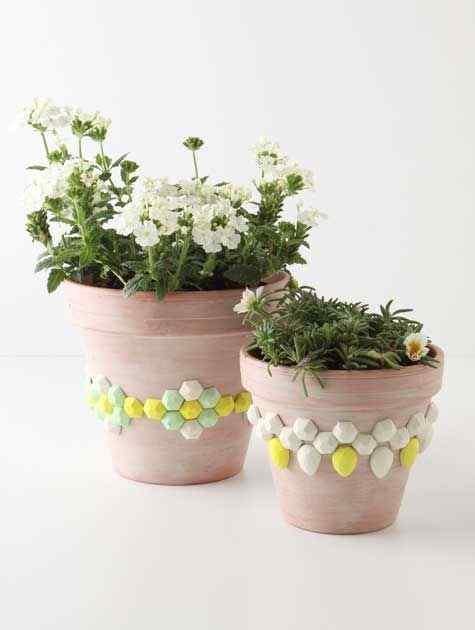 Decorative Gems flower pots
