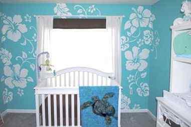 a floral paradise in boy's nursery