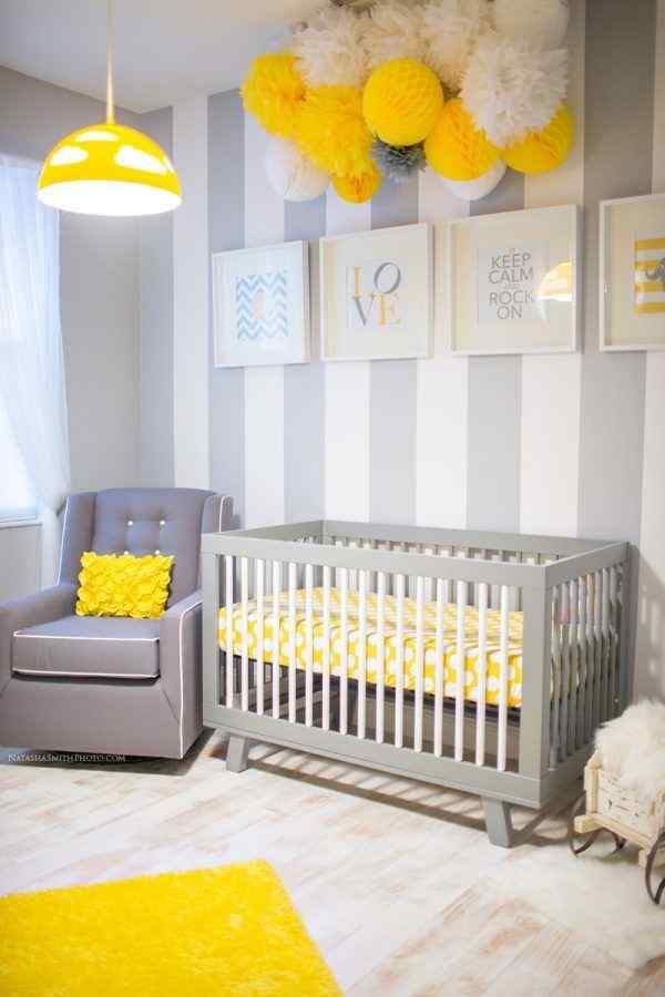 yellow theme boy nursery